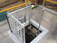 Confined space entry with ladder extensions