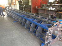 Pile driver under fabrication