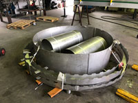 Stainless steel treatment plant components
