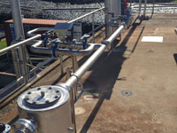 Methane piping systems