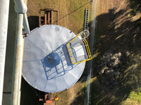 Aerial view of installation of new tank complete with confined space access