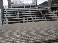 Aluminium access stairs and platforms to jettys
